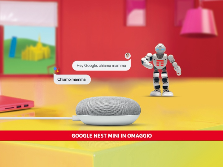 TIM SUPER FIBRA con Google Nest Mini in regalo