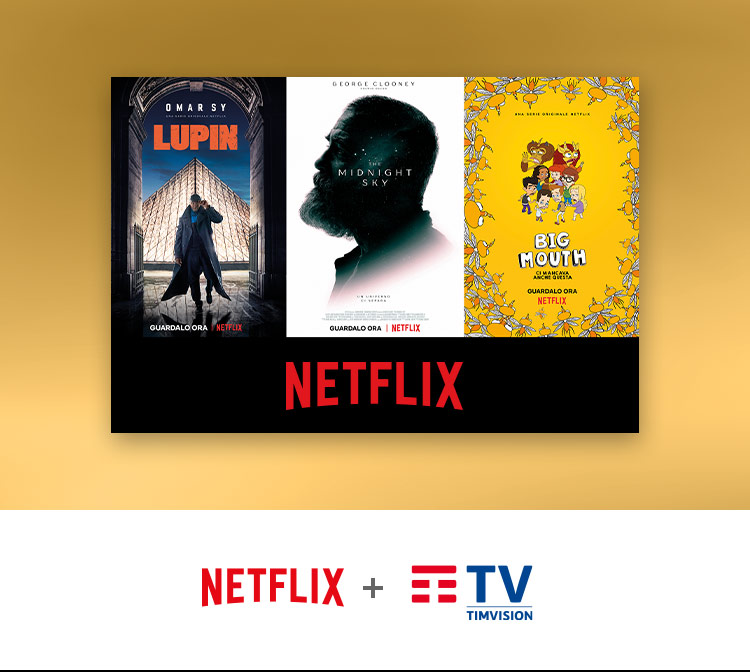 Serie TV e film Netflix in streaming su TIMVISION