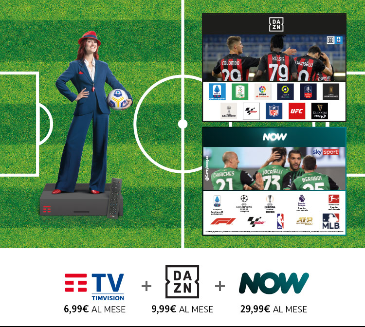 Partite di serie A e tutto il calcio DAZN e Now TV