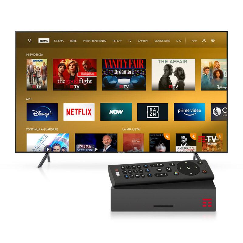 CON DAZN E NOW TV è INCLUSO in promo il noleggio gratuito del TIMVISION Box